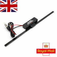 Auto Car Hidden Amplified Antenna 12V Electronic Stereo Am Fm Radio Black UK