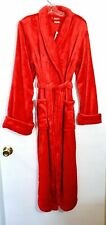 NWT Soma EMBRACEABLE Long Plush Robe, Festive Red, Size S/M