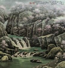 ORIGINAL ASIAN FINE ART CHINESE WATERCOLOR PAINTING-Cherry Blossoms