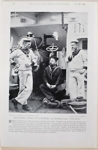 1896 BOER WAR ERA ON BOARD CRUISER THESEUS PETTY OFFICERS DISCUSSING