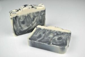 Patchouli Oil and Charcoal Happy Hippy Soap Loaf, 1.1kg Approx, 10 Slices