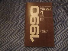 1990 Ford Ranger Bronco Ii Aerostar Factory Shop Spec Manual Specification Book