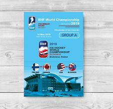 ALL MATCHDAY PROGRAMMES IIHF ICEHOCKEY World Championship 2019 Slovakia FAN edit