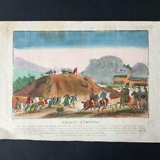 BATAILLE ESPINOSA 1808 - Vue Optique Napoléon 1er Napoleonic Etching