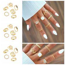 6pcs Gold Boho Women Stack Plain Above Knuckle Ring Midi Finger Tip Rings Set