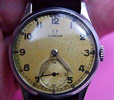 Mans Omega Orologio da polso WW 2 periodo 1940 -41 esecuzione ha bisogno di pulizia,9396847
