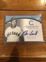 2008 Upper Deck Signature Premier Silver Ron Santo Autograph Chicago Cubs /25