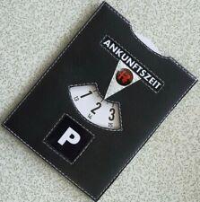 Parkscheibe mit Logo Alfa Romeo Parkuhr Leder Kurzparkzone Parkzone Schwarz