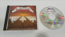 METALLICA MASTER OF CD DE MARIONNETTES HEAVY MÉTAL HARD ROCK 1986 ORIGINAL
