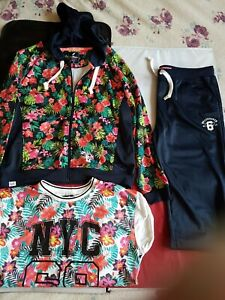 ladies brookhaven tracksuit blue/floral size 16  inside leg 31  worn once vgc