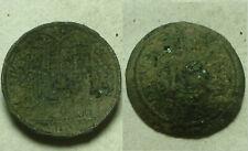 Rare ORIGINAL ancient BYZANTINE coin crusader issue Christ saints cross