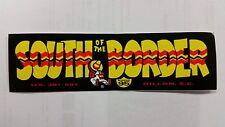"""SOUTH OF THE BORDER US ATTRACTION S. CAROLINA 6""""x 2"""" YELLOW MINI BUMPER STICKER"""