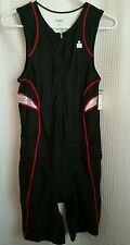 Ironman Biking Cycling Bib 1 Pc Padded Tri Suit Men's M Short John USA NWT