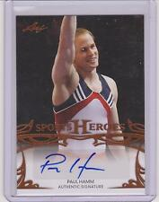 2013 LEAF SPORTS HEROES PAUL HAMM OLYMPIC AUTOGRAPH CARD BA-PH1 ~ GYMNASTICS