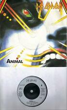 DEF LEPPARD  Animal / Tear It Down  Import 45 with PicSleeve