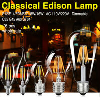 6X E26 E27 E12 E14 Filament LED Lights COB Dimmable Retro Edison Bulb Lamp 8/16W