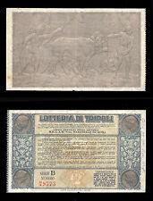 biglietto lotteria GRAN PREMIO DI TRIPOLI 1932
