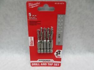 Milwaukee Shockwave SAE Impact Drill Tap Bit Set 48-89-4874