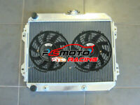 Aluminum Radiator + FANS For Toyota Corona ST141 2.0L 4cyl 2SC 1983-1987 AT/MT