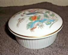 WEDGWOOD KUTANI CRANE RIBBED TRINKET POT