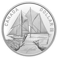 2021 Canada 100th anniversay of Bluenose launch 99.99% Silver dollar all org pkg