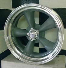 "18"" AMERICAN RACING GRAY CENTRE TORQ THRUST II SUIT FORD, HQ, CHEV AND USA CARS"