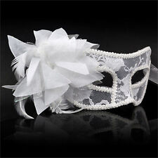 Eye Mask Feather Lace Flower Masquerade Ball Carnival Fancy Dress HY