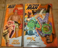 "GI JOE ACTION MAN Dr X & KICK BOXER 12"" FIGURE LOT NEW MIB"