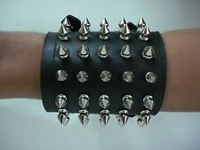 LEATHER SPIKED BRACELET. DEATH METAL (MDLB0209)..... OPPRESSOR