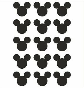 Mickey Mouse Head 15 Pack Wall Sticker Decal Laptop Phone Vinyl Adhesive Car