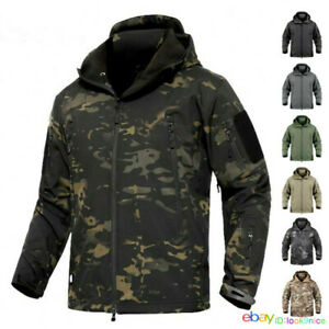 Waterproof Mens Soft Shell Jacket Coat Army Tactical Outdoor Jackets Windbreaker
