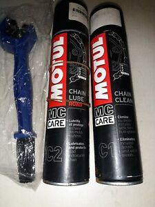 Motul Chain Care Kit - Chain Cleaner , Chain Lubricant & Brush used plenty left.