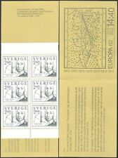 Sweden 1982 Europa/Celcius/Science/Physics/Temperature/People 6v bklt (n33742a)