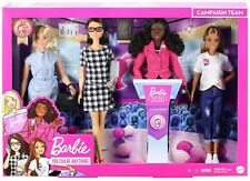 Mattel 2020 Barbie Career of the Year President Campaign Team Four Doll Gift Set