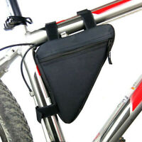 Cycling Road Bike MTB Bicycle Front Tube Bag Zipper Storage Pouch Pack Frame Bag