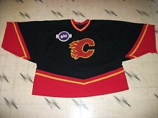 "CALGARY FLAMES ""LOOKING"" GOALIE CUT GOALIE JERSEY A HUGE SIZE 62 G COOL JERSEY"