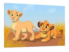 Lion King 30x20 Inch Canvas - Simba & Nala Disney Framed Picture Print