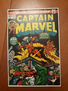 Captain Marvel # 27 NM- 9.2 Thanos,  Avengers,  Drax app.  Jim Starlin art
