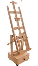 Us Art Supply Double Rocker Extra Large Multi-purpose Wooden Studio Floor Easel