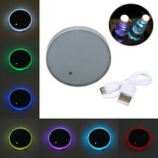 Power Energy Cup Holder Bottom Pad LED Light Cover Trim For All Cars All Models