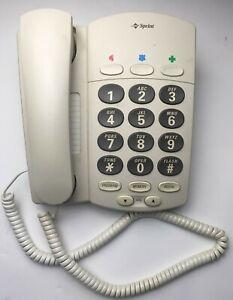 Vintage Sprint Gray Big Button Land Line Telephone Elderly Phone Loud Ringer