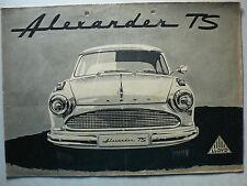 Prospetto Lloyd Alexander TS, 5.1958, 8 pagine, Folder