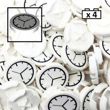 LEGO Round Tile 2x2 White Clock x4 4150px1
