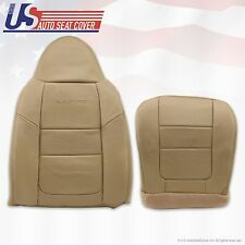 2001 Ford F-350 Lariat Driver Bottom Lean Back Leather Seat Cover Parchment TAN