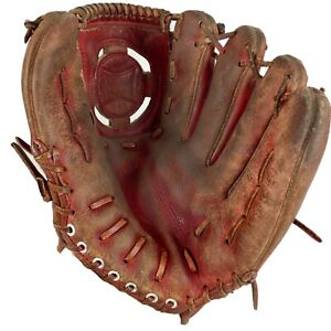 "VTG Stan Musial Baseball Glove Montgomery Ward RHT Model 60 21224 HOF 11"" Adult"