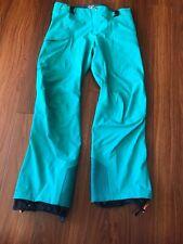 Women's Arcteryx Turquoise Snowpants Size 10 EUC