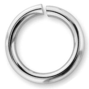 ONE VERY STRONG, HEAVY, CHUNKY STERLING SILVER OPEN JUMP RING, 10.6 MM