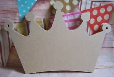 4mm thick MDF Large crown Plaque 320mm wide craft blank