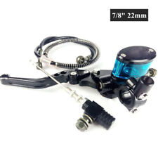 "7/8"" Motorcycle CNC Hydraulic Clutch Lever Master Cylinder Knitting Oil Hose Kit"