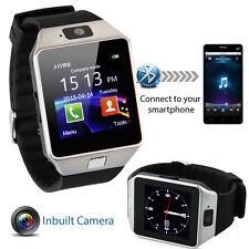 Neu Bluetooth Smart Watch Uhr Handy Kamera SIM Karte für SMART Phone Samsung HTC